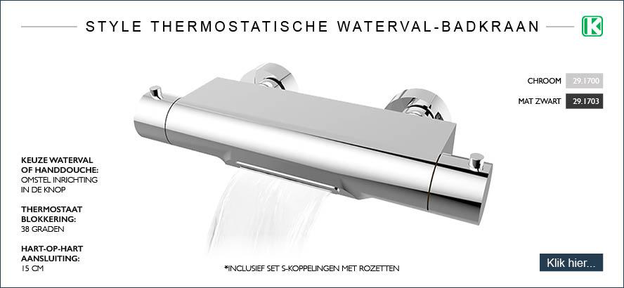 Style thermostatische waterval-badkraan